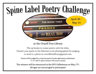 Spine Label Poetry Challenge
