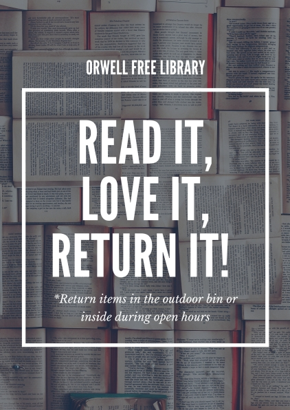 Grey Book Library Sign Poster