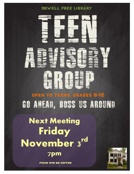 Teen Advisory Group Poster, meeting specific-page-001